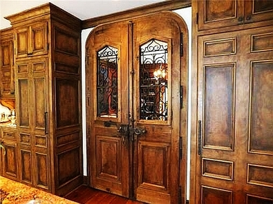Antique French Bakery Doors to Library